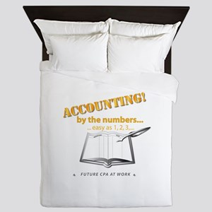 Accounting - By the Numbers Queen Duvet