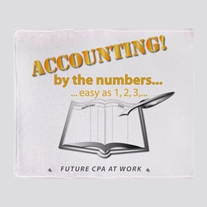 Accounting - By the Numbers Throw Blanket