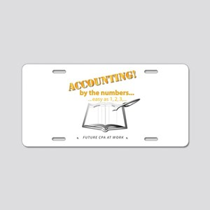 Accounting - By the Numbers Aluminum License Plate