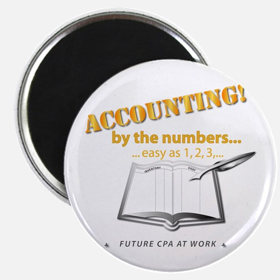 """Accounting - By the Numbers 2.25"""" Magnet (10 pack)"""