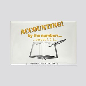 Accounting - By the Numbers Rectangle Magnet