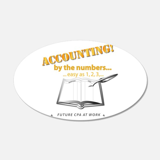 Accounting - By the Numbers Wall Decal