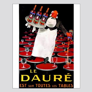 Vintage French Wine Poster Small Poster