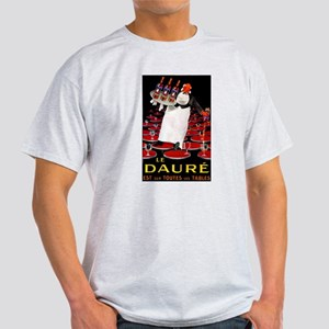 Vintage French Wine Poster (Front) Light T-Shirt