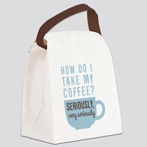 Coffee Seriously Canvas Lunch Bag