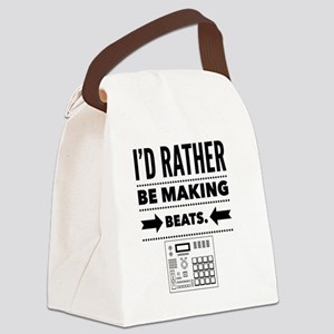 I'd Rather Be Making Beats Canvas Lunch Bag