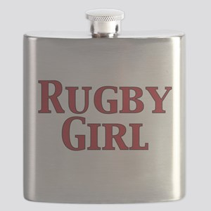 Rugby Girl Flask