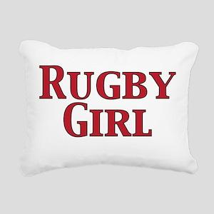 Rugby Girl Rectangular Canvas Pillow
