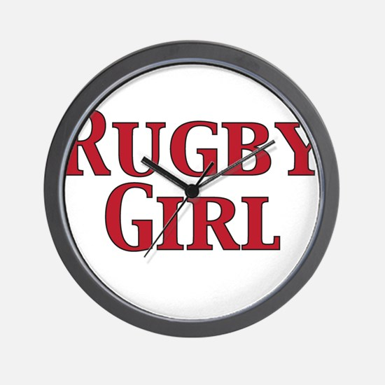 Rugby Girl Wall Clock