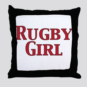 Rugby Girl Throw Pillow