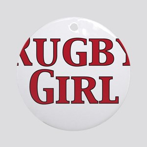 Rugby Girl (round) Round Ornament