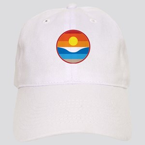 Horizon Sunset Illustration with Crashing Wave Cap