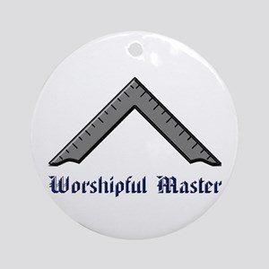 Worshipful Master Round Ornament