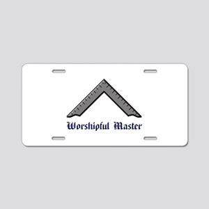 Worshipful Master Aluminum License Plate