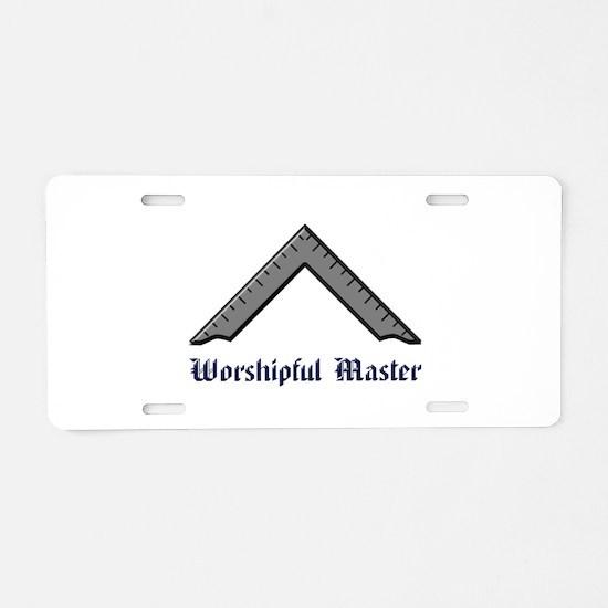 Worshipful Master Aluminum License Plate