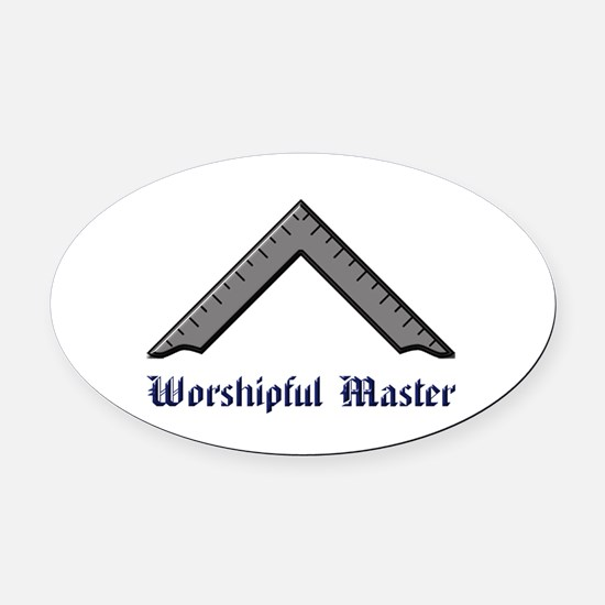 Worshipful Master Oval Car Magnet