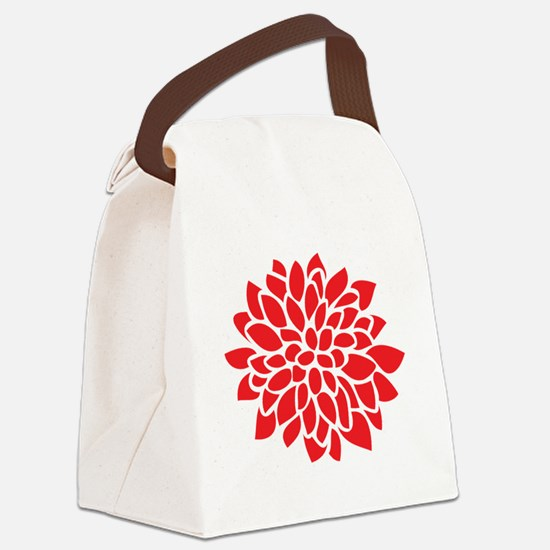 Cute Contemporary Canvas Lunch Bag