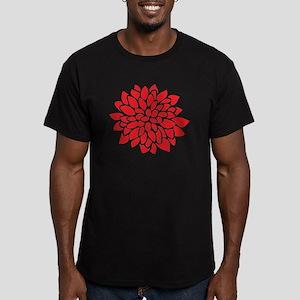 Bold Red Graphic Flower Modern T-Shirt