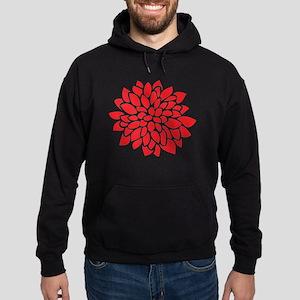Bold Red Graphic Flower Modern Sweatshirt