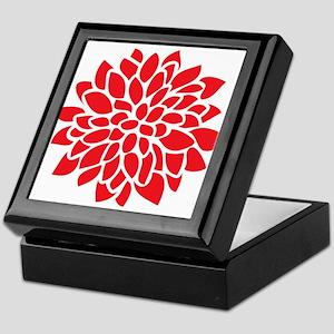 Bold Red Graphic Flower Modern Keepsake Box