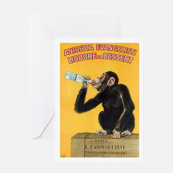 Monkey Liquor Poster Greeting Card