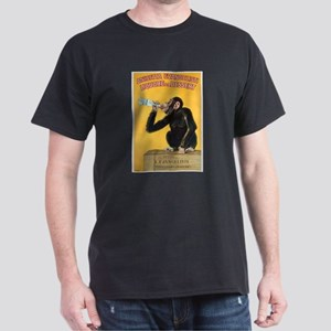 Monkey Liquor Poster (Front) Dark T-Shirt