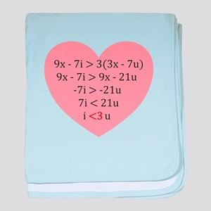 Equation of Love baby blanket