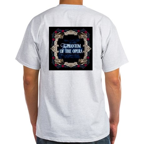 Phantom of the Opera Lettering with Red Rose Frame Light T-Shirt ...