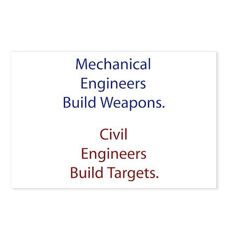 Mechanical Engineers and Civil Engineers Postcards