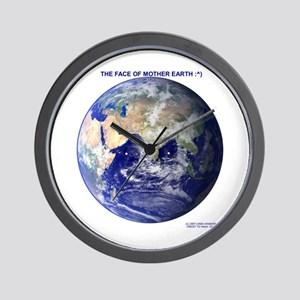 MOTHER EARTH'S FACE Wall Clock