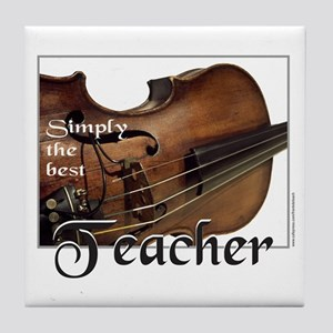 BEST TEACHER Tile Coaster