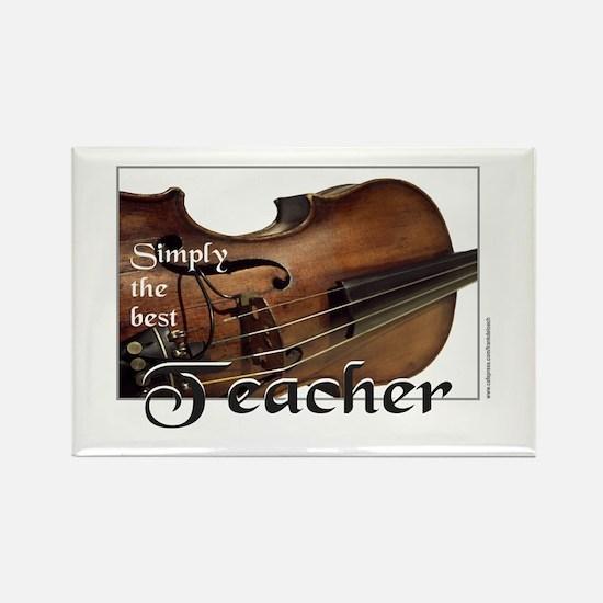 BEST TEACHER Rectangle Magnet