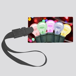 Christmas Lights Luggage Tag