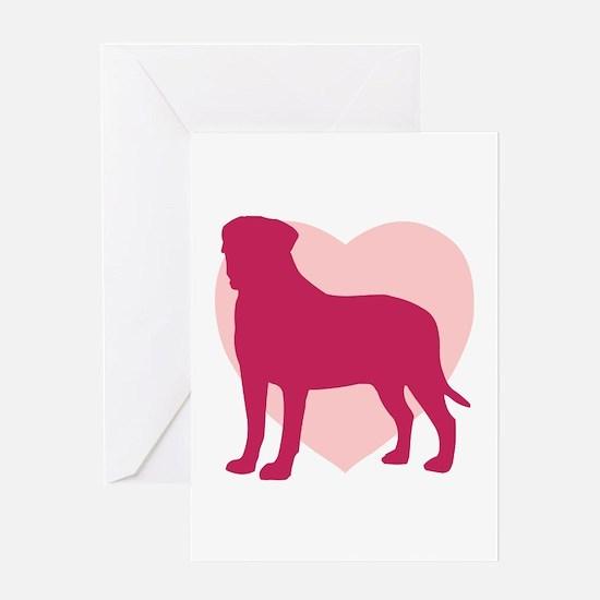 Bullmastiff Valentine's Day Greeting Card