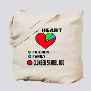 My Heart, Friends, Family, Clumber Spanie Tote Bag