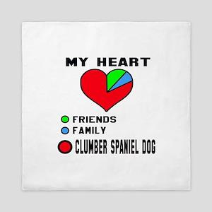 My Heart, Friends, Family, Clumber Spa Queen Duvet