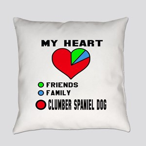 My Heart, Friends, Family, Clumber Everyday Pillow