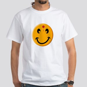 """Bust a cap in Smiley"" White T-Shirt"