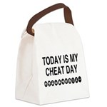 Video Game Cheat Day Canvas Lunch Bag