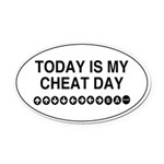 Video Game Cheat Day Oval Car Magnet
