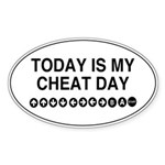 Video Game Cheat Day Sticker (Oval)