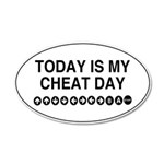 Video Game Cheat Day 35x21 Oval Wall Decal
