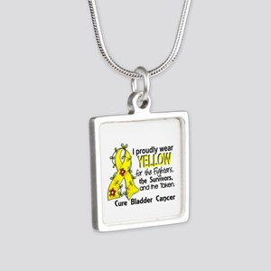 For Fighters Survivors Tak Silver Square Necklace