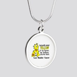 For Fighters Survivors Taken Silver Round Necklace