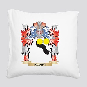 Klimpt Coat of Arms - Family Square Canvas Pillow