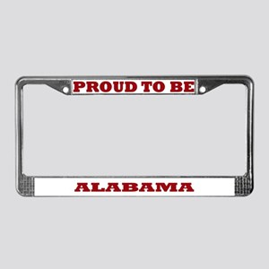 Proud to Be Alabama License Plate Frame