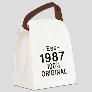 Est.Since 1987 Canvas Lunch Bag