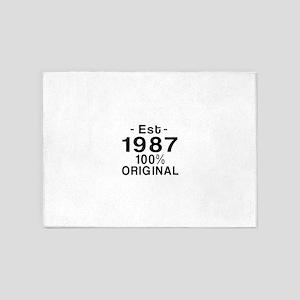 Est.Since 1987 5'x7'Area Rug