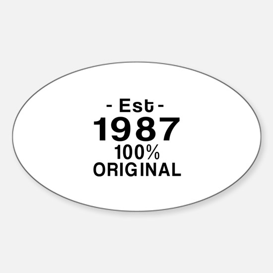 Est.Since 1987 Sticker (Oval)