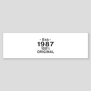 Est.Since 1987 Sticker (Bumper)